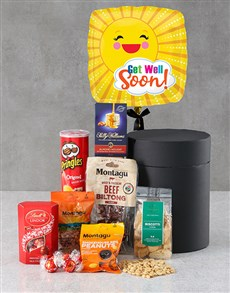 gifts: Get Well Snack Attack Balloon Hat Box !