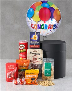 gifts: Congrats Snack Attack Balloon Hat Box!