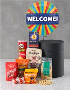 gifts: Welcome Snack Attack Balloon Hat Box!