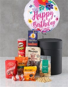 gifts: Floral Birthday Snack Attack Balloon Hat Box!