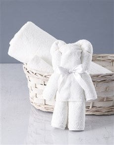 gifts: White Teddy Towel Set!