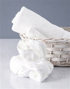 gifts: White Bunny Towel Set!