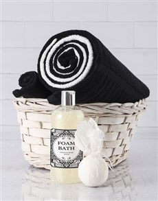 gifts: Black And White Swirl Towel Set!