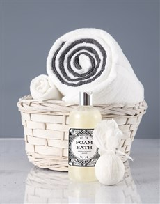 gifts: White And Grey Swirl Towel Set!