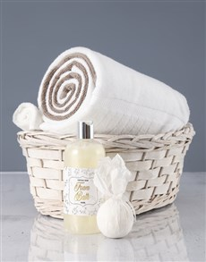 gifts: White And Pebble Swirl Towel Set!