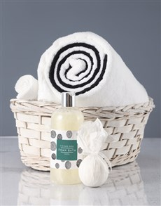 gifts: White And Black Swirl Towel Set!