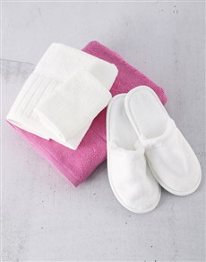 gifts: White And Pink Towel Set!