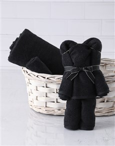 gifts: Black Teddy Towel Set!