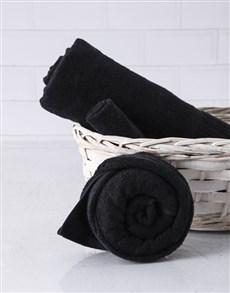 gifts: Black Rose Towel Set!