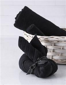 gifts: Black Bunny Towel Set!