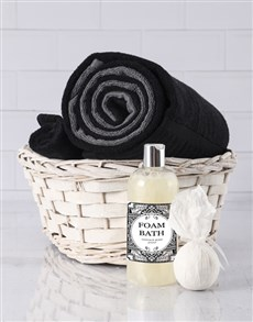gifts: Black And Grey Swirl Towel Set!