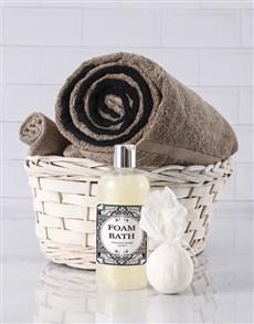 gifts: Black And Pebble Swirl Towel Set!