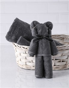 gifts: Charcoal Teddy Towel Set!