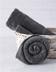 gifts: Charcoal Rose Towel Set!