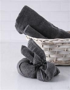 gifts: Charcoal Bunny Towel Set!