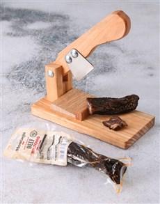 gifts: Small Biltong Cutter with Biltong Gift!