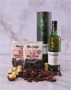 gifts: Glenfiddich Scotch Whiskey and Biltong Hamper!