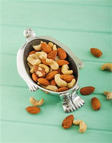 gifts: Carrol Boyes Nut Bowl Small Woman in Tub & Nuts!