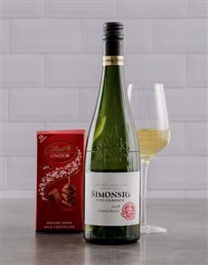 gifts: Simonsig Chenin Blanc and Lindt Gift!
