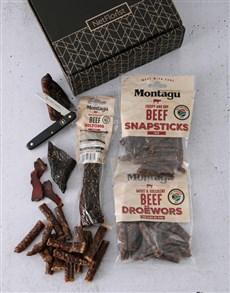 gifts: Biltong Gift Box & Biltong Knife!