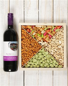 gifts: Spicy Snacks and Red Wine Hamper !