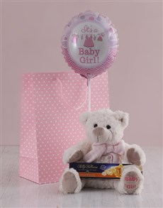 gifts: Its a Girl Teddy and Nougat Gift Hamper!