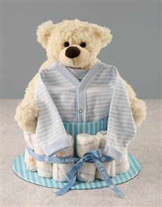 gifts: Its a Boy Nappy Cake!