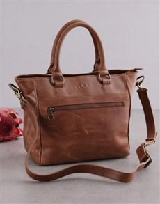 gifts: Zemp Paris Tan Leather Handbag!