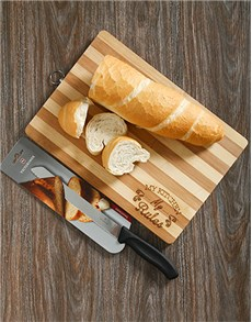 gifts: Victorinox Bread Knife and Chopping Board Gift!