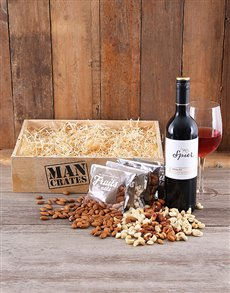 gifts: Nutty Merlot Man Crate!