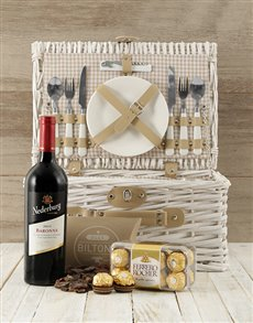 gifts: Time To Wine Down Picnic Basket!