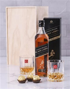 gifts: Whisky and Crystal Tumblers Crate!
