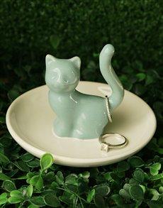 gifts: Cat Jewellery Ceramic Holder!