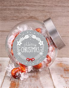 gifts: Merry Christmas Wreath Candy Jar!