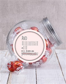 gifts: I Will Always Love You Candy Jar!