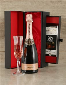 gifts: Pongracz Rose and Lindt Box!