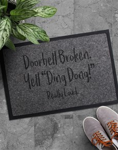 gifts: Ding Dong Doormat!