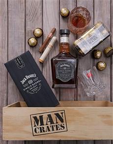 gifts: Jack Daniels and Cuban Cigar Man Crate!