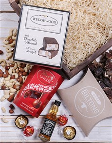 gifts: Jack Daniels and Nougat Square Crate!