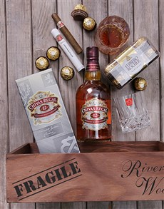 gifts: Chivas Regal and Cuban Cigar Crate!