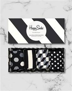 gifts: Black and White Happy Socks Giftbox!