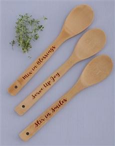gifts: Serve Mix Stir Spoon Set!