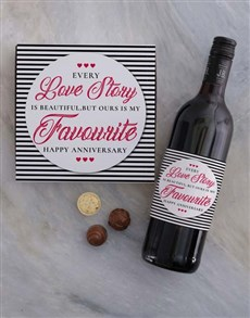 gifts: Anniversary Love Story Choc Tray!