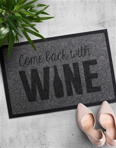gifts: Come Back With Wine Doormat!