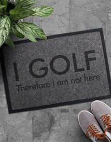 gifts: I Golf Doormat!