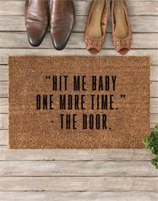 gifts: Hit Me Baby Doormat!