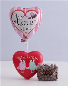 Picture of You Melt My Heart Chocolate Tin Hamper!