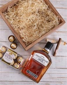 gifts: Gentleman Jack and Cuban Cigar Crate!