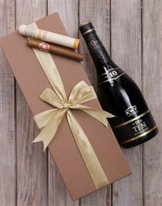gifts: Gold Box of KWV 10 and Cuban Cigar!