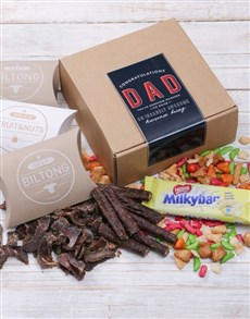 gifts: Congrats Dad Biltong Box!